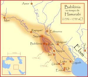 Babilônia, a maior cidade semita.